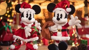 Mickey and Minnie Plush Shanghai Disneyland Christmas 2018