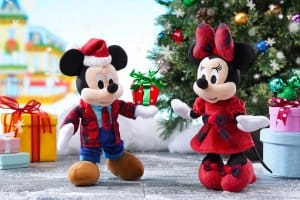 Mickey and Minnie Plushes Hong Kong Disneyland Christmas 2018