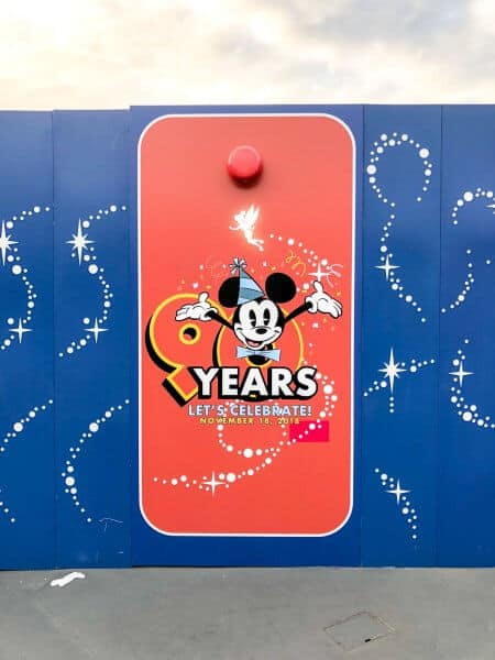 Mickey Mouse 90 Years Decorations Toontown Construction Walls Tokyo Disneyland