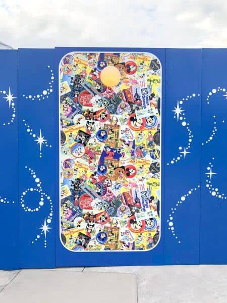 Mickey Mouse 90 Years Pattern Decorations Toontown Construction Walls Tokyo Disneyland