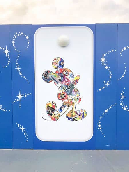 Mickey Mouse 90 Years Silhouette Decorations Toontown Construction Walls Tokyo Disneyland