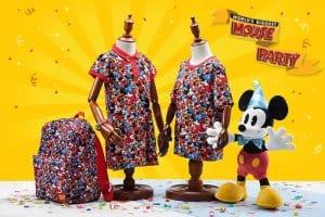 Pattern T-shirts and Backpack Mouse Party Hong Kong Disneyland