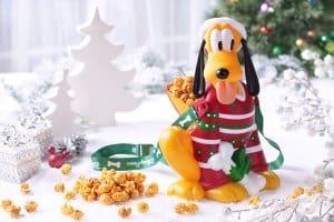 Pluto Popcorn Bucket Hong Kong Disneyland Christmas 2018