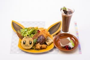 Pokémon Cafe Eevee Plate Set