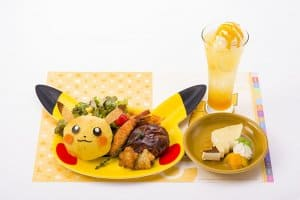 Pokémon Cafe Pikachu Plate Set