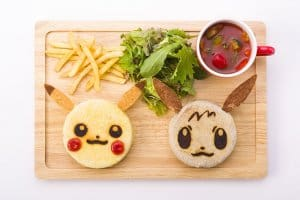 Pokémon Cafe Pikachu and Eevee Muffin Plate