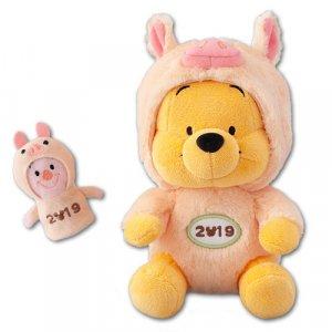 Pooh Plush with Piglet Puppet Tokyo Disney Resort Merchandise New Year 2019