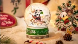 Snow Globe Shanghai Disneyland Christmas 2018