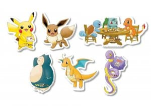 Stickers Let's Go Pokémon Cafe