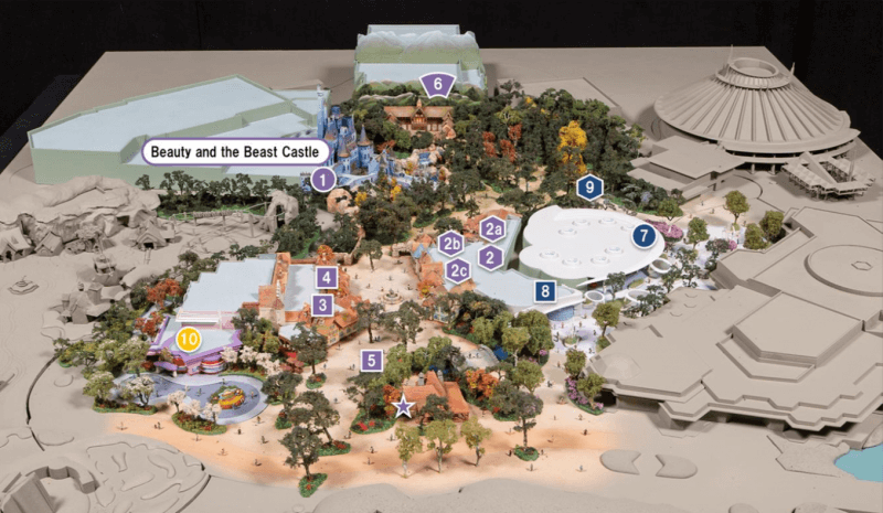 New concept art for the Tokyo Disneyland expansion shows the location of the new facilities in Fantasyland, Tomorrowland and Toontown. (Image Source - OLC Press Release, ©Disney)