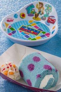 Cream Roll Cake and Souvenir Plate Tokyo DisneySea Pixar Playtime Menu 2019