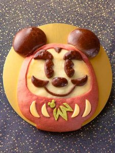 Mickey Daruma Doll Bread