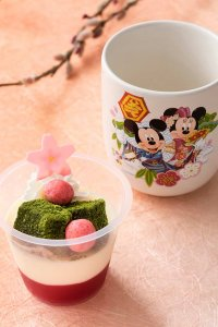 Strawberry Jelly Dessert with Souvenir Cup Tokyo Disney Resort New Years 2019