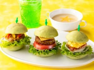 Little Green Burger Set Pixar Playtime Tokyo Disney Resort Hotel Menu