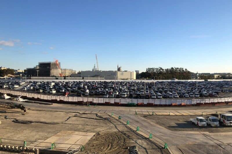 New Year's Day Tokyo Disneyland Parking Lot Full
