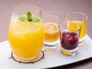 Orange and Pineapple Special Drink Pixar Playtime Tokyo Disney Resort Hotel Menu