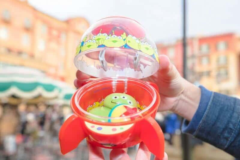 Green Alien Mochi with The Claw Souvenir Case at Tokyo DisneySea