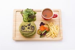 Bulbasaur Veggie Burger Pokémon Cafe Anniversary Menu