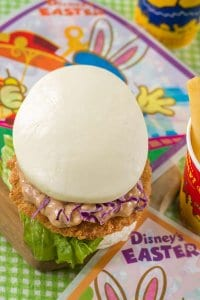 Egg and Sausage Cutlet Sandwich Easter Menu Tokyo Disneyland 2019