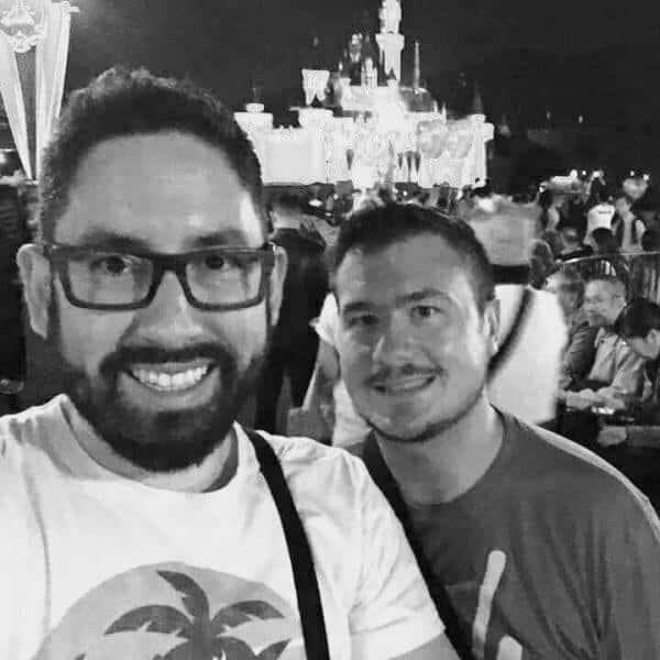 John Himpe & Chris Nilghe at Hong Kong Disneyland