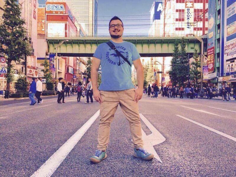 John Himpe in Akihabara Tokyo