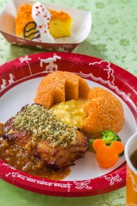 Roast Chicken, Scrambled Egg and Ketchup Rice Easter Menu Tokyo Disneyland 2019