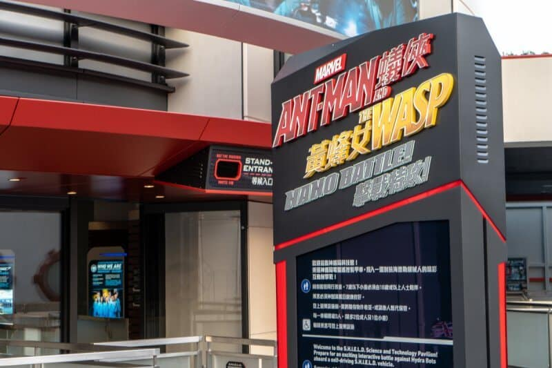 Ant-Man and the Wasp Nano Battle Hong Kong Disneyland Signage Daylight