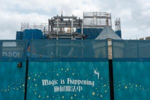 Hong Kong Disneyland Castle Construction Update Spring 2019 Back 2