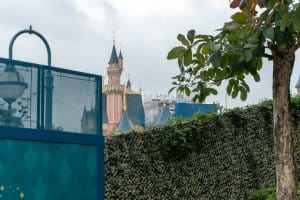 Hong Kong Disneyland Castle Construction Update Spring 2019 Front 1