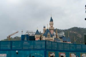 Hong Kong Disneyland Castle Construction Update Spring 2019 Front 4