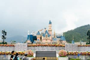 Hong Kong Disneyland Castle Construction Update Spring 2019 Front 6