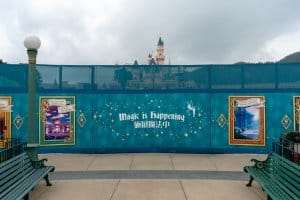 Hong Kong Disneyland Castle Construction Update Spring 2019 Front 7