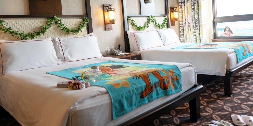 Moana, Birthday, and Anniversary Room Overlays at Hong Kong Disneyland Hotels