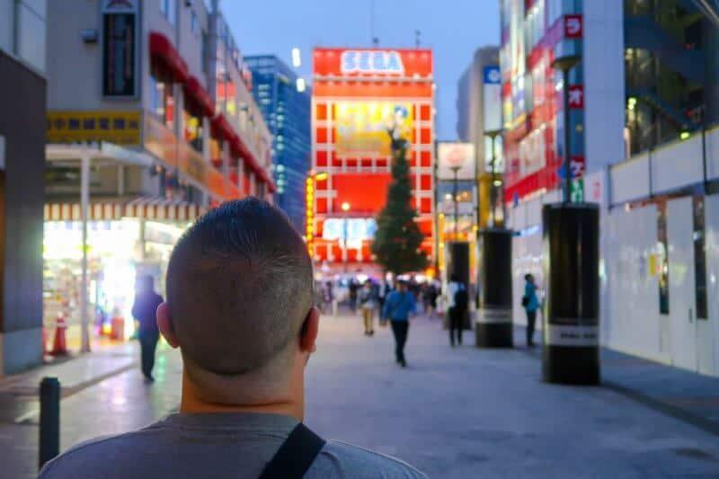 John Himpe in Akihabara Tokyo Japan