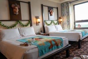 Moana Beds Hong Kong Disneyland Hotel Room Overlays