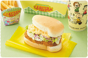 Snoopy Egg and Katsu Sandwich Set Universal Studios Japan Easter 2019