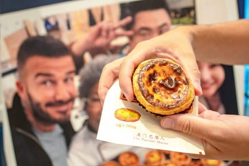David Beckham Egg Tart at The Parisian Macao