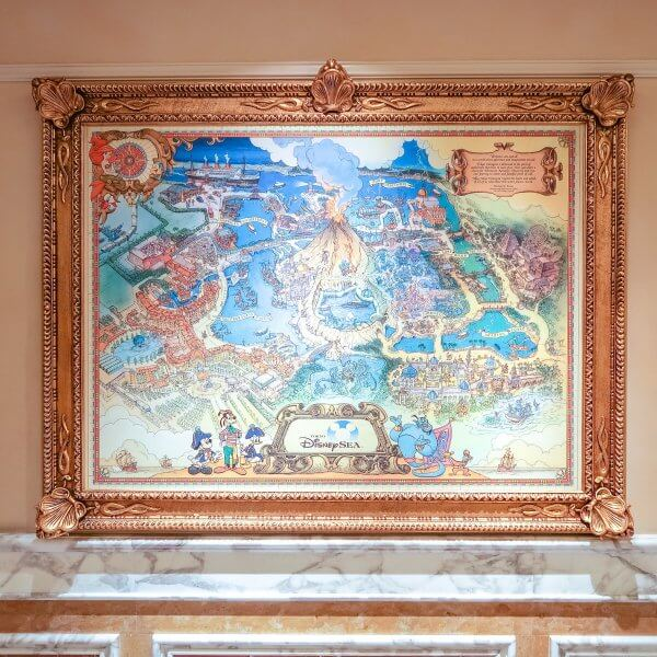 Map of Tokyo DisneySea in Hotel MiraCosta
