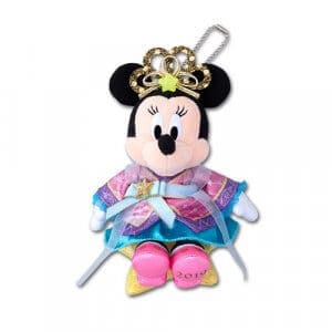 Minnie Tanabata Plush Badge