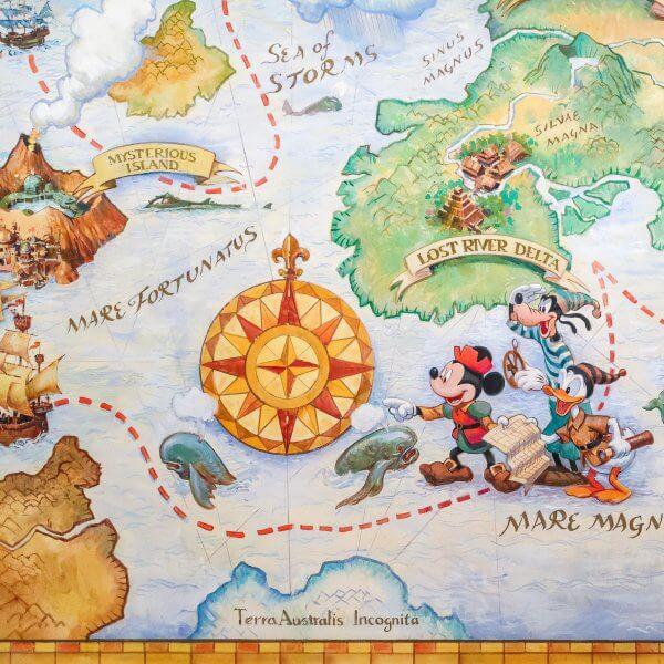 Tokyo DisneySea Map in Hotel MiraCosta