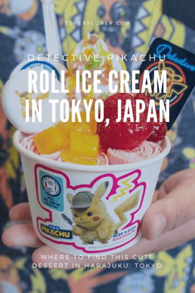 Detective Pikachu Roll Ice Cream Review Pinterest