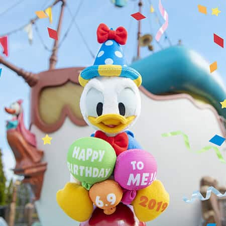Happy Birthday Donald Merchandise at Tokyo Disney Resort