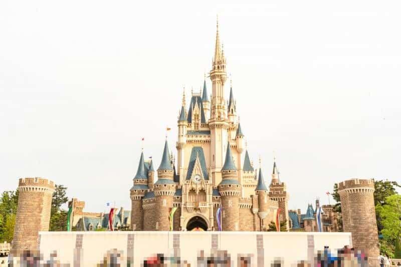 Cinderella Castle Construction at Tokyo Disneyland