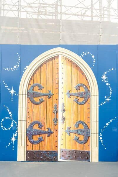Fantasyland Construction at Tokyo Disneyland Walls