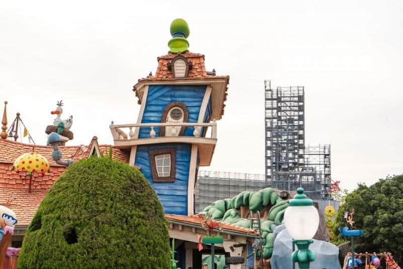 Fantasyland Construction at Tokyo Disneyland from Toontown