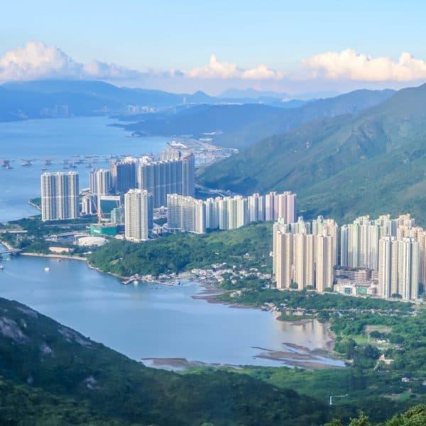 View from the Ngong Ping 360 in Hong Kong