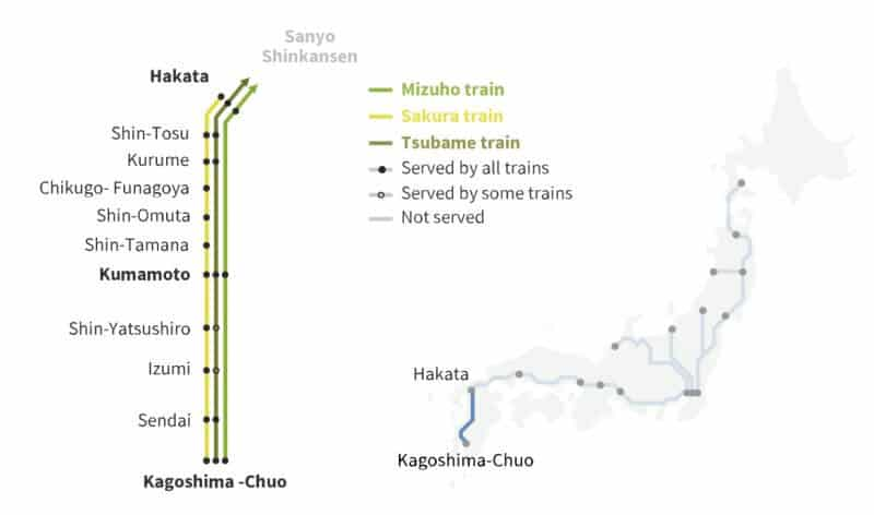 Mickey Mouse Shinkansen Route