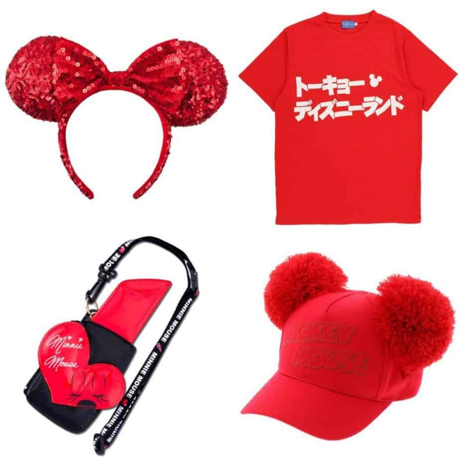 Red Minnie Mouse Merchandise at Tokyo Disney Resort