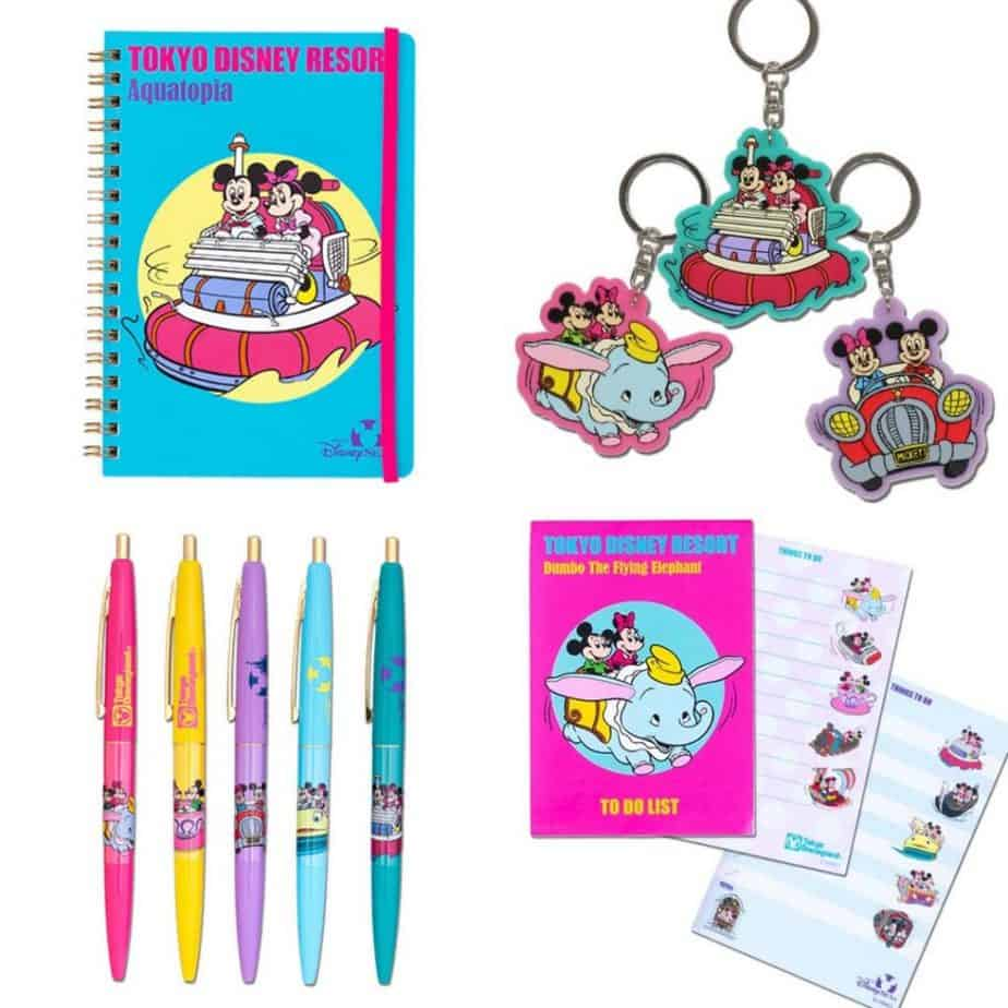 Retro Mickey and Minnie Stationery at Tokyo Disney Resort