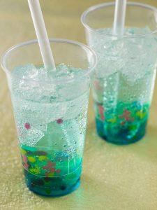 Blue Syrup Sparkling Drink
